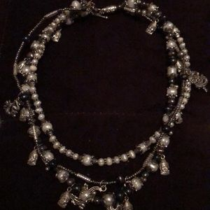Three strand Thai nightlife inspired necklace
